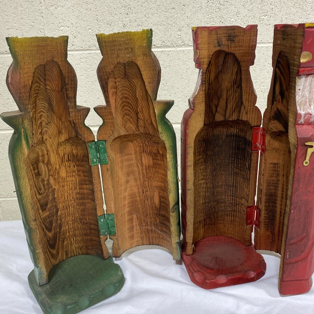 Mediterranean Style Carved Wood Wine Bottle Holders For Sale In Richmond - Image 6 of 10
