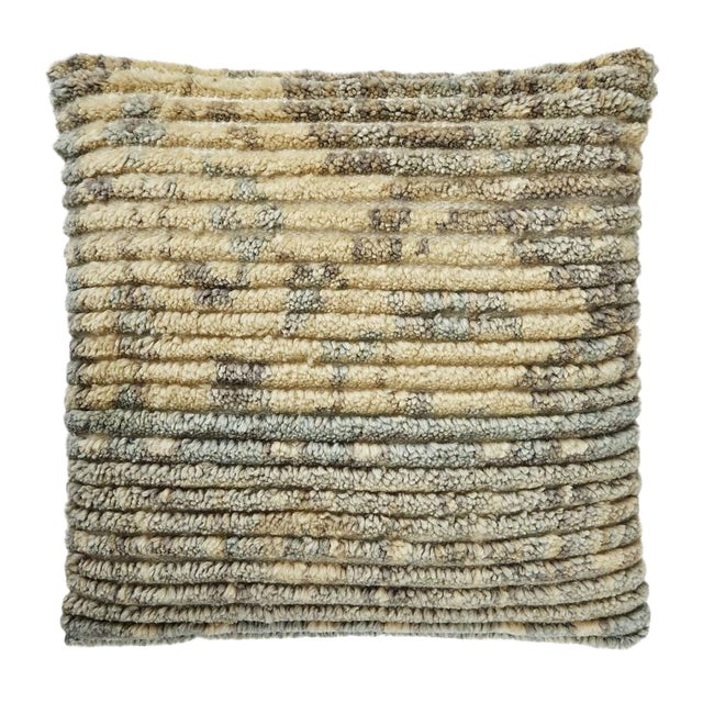 """Piper Collection Natural Wool """"Mila"""" Pillow For Sale"""