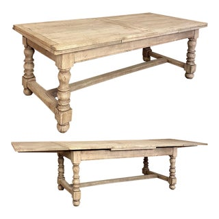 Early 19th Century French Rustic Draw Leaf Banquet Table For Sale