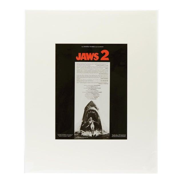 Jaws 2, 1978/ Original Vintage Movie Advertisement Art Transparency For Sale
