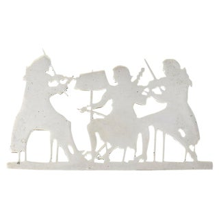 Sterling Victorian-Themed Musicians Brooch For Sale