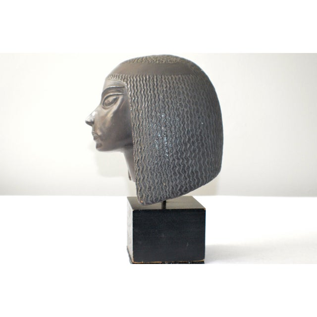 Vintage Fred Press Eygptian Female Sculpture - Image 4 of 10