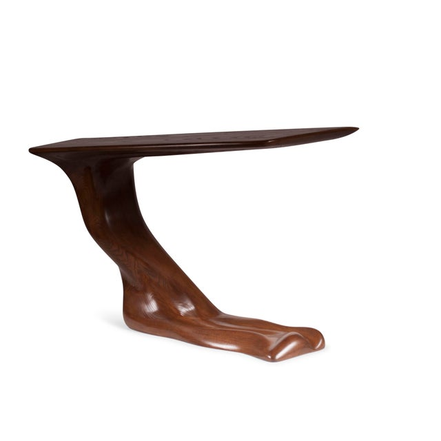 Amorph Frolic Walnut Finish Console Table With Base For Sale - Image 4 of 9
