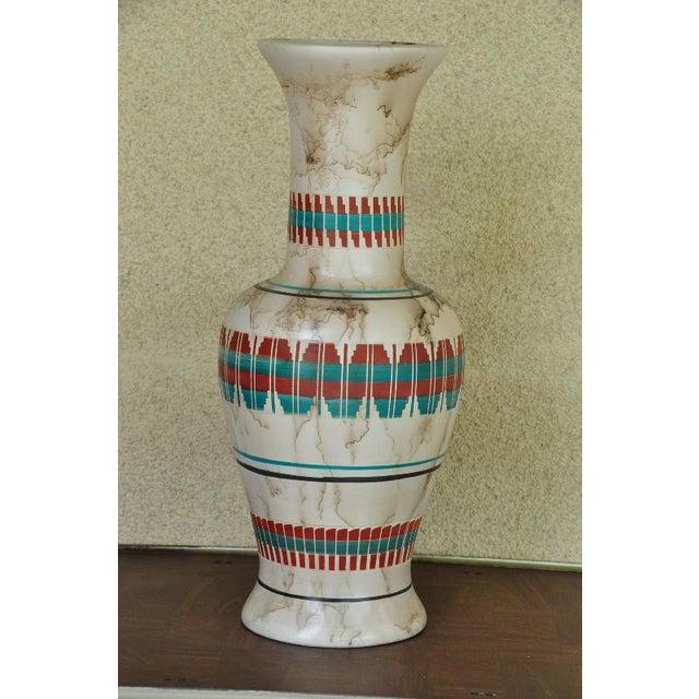 "18"" Tall Navajo Native American Arlene John Horsehair Pottery Vase For Sale In San Francisco - Image 6 of 8"