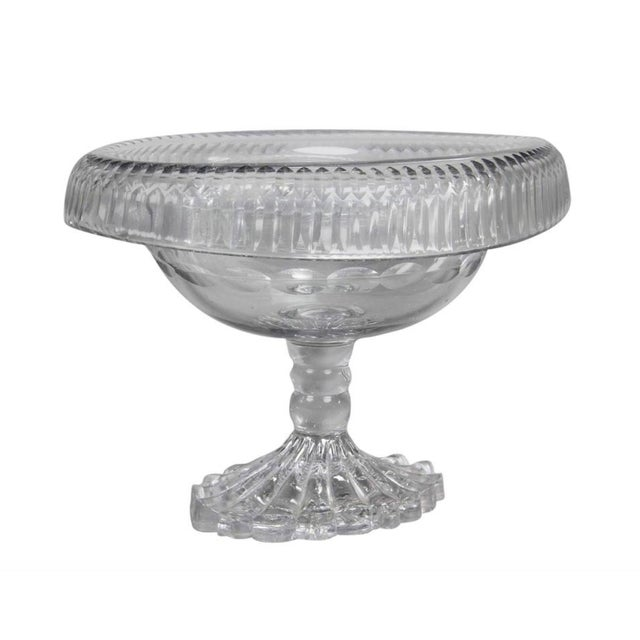 George III Irish Cut Glass Footed Compote For Sale - Image 11 of 11