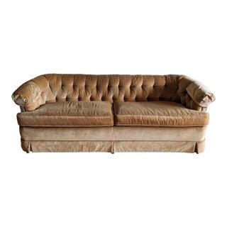 1980s W&j Sloane Velvet Chesterfield Sofa For Sale