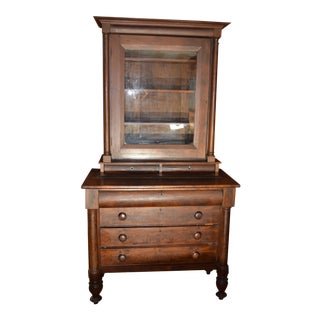19th Century Mahogany China Cabinet For Sale