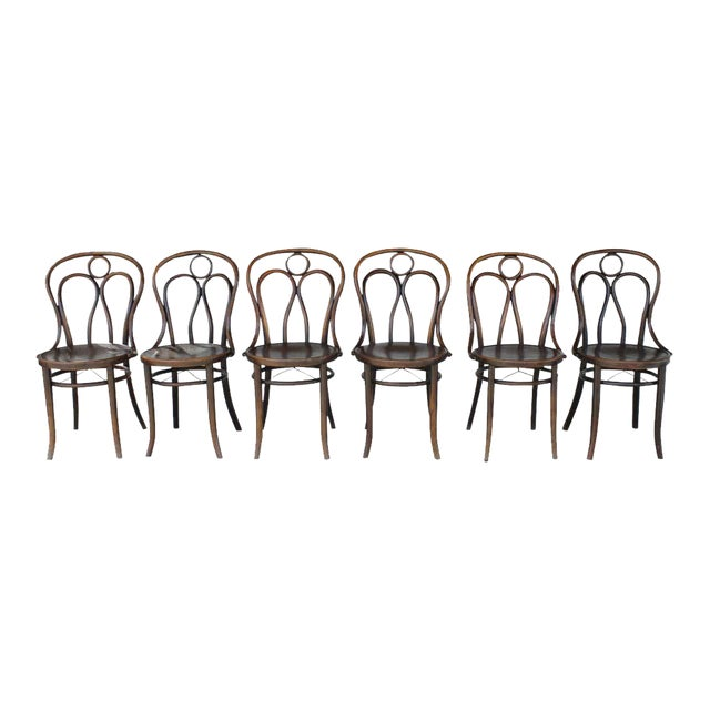 Mundus and J J Kohn Ltd Bentwood Chairs - Set of 6 For Sale