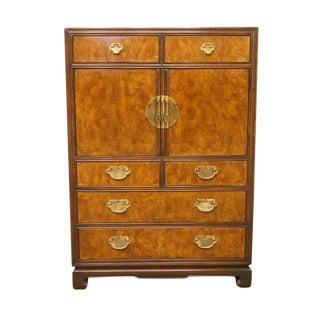 Late 20th C. Vintage Drexel Tai Ming Collection Asian Chinoiserie Chest For Sale