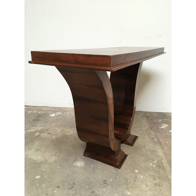 1920s Art Deco Console in Rosewood For Sale - Image 5 of 12