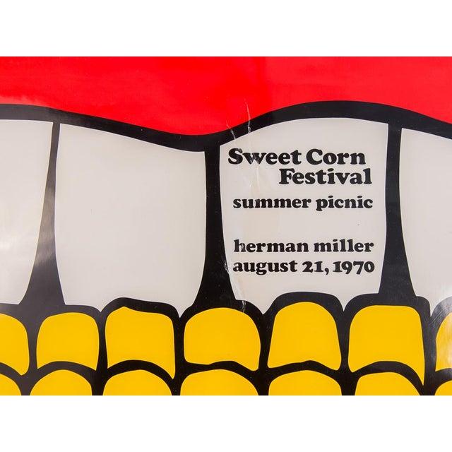Mid-Century Modern Herman Miller Summer Picnic Sweet Corn Festival Poster For Sale - Image 3 of 9