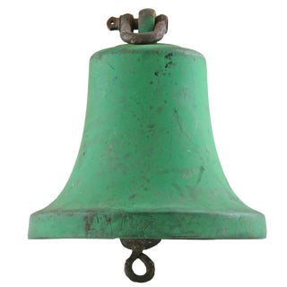 XL Antique Bronze Nautical Ship Bell For Sale