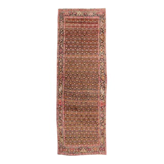 Vintage Persian Khotan Rug with Modern Style, Brown and Pink Persian Gallery Rug