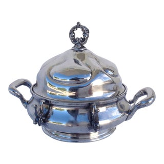 Victorian Silverplate Domed Butter Server For Sale