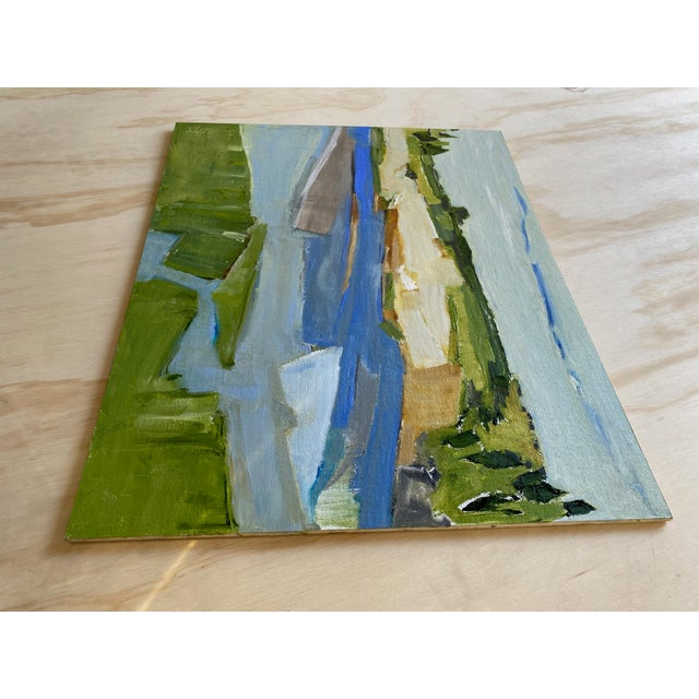 """2020s """"North Shore"""" Contemporary Abstract Landscape Oil Painting by Ann Keane For Sale - Image 5 of 6"""