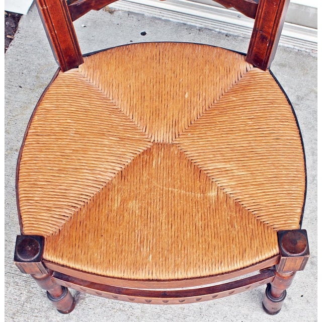 Textile French Side Chairs - Pair For Sale - Image 7 of 10