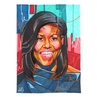"""Michelle Obama"" Original Artwork by Domonique Brown For Sale"