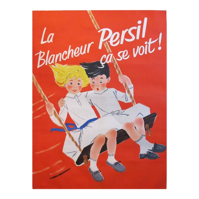 1957 French Soap Ad, Blancheur Persil For Sale