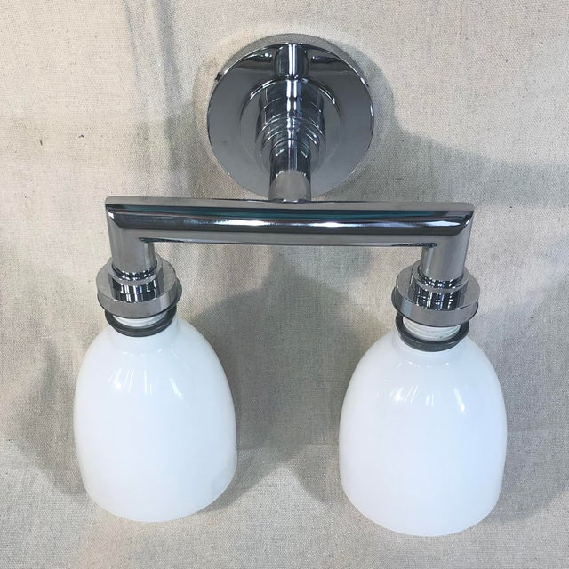 Modern Visual Comfort Chapman & Myers Wilton Double Bath Light For Sale - Image 3 of 8