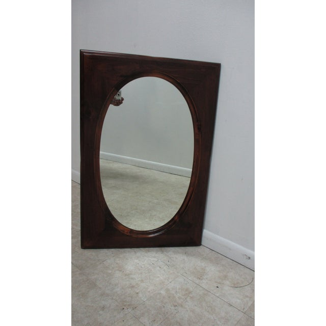 Wood Ethan Allen Old Tavern Pine Console Dresser Hanging Wall Mirror For Sale - Image 7 of 11