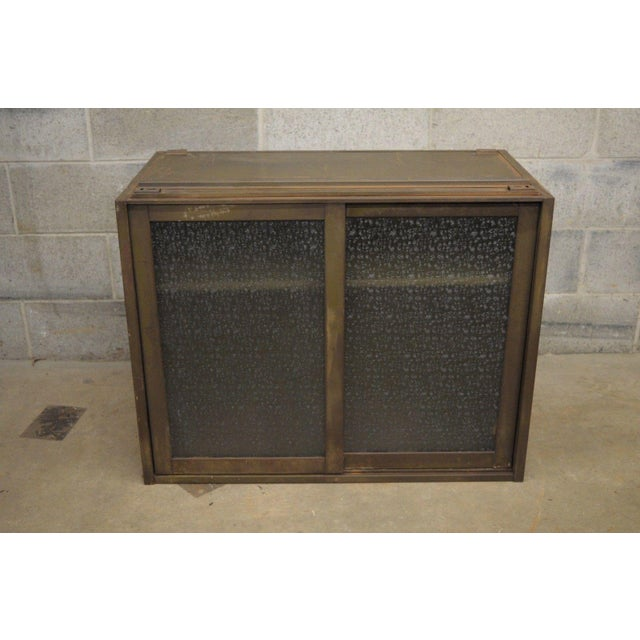 Remington Rand Industrial Green Steel Metal Stacking Barrister Storage Cabinet A For Sale In Philadelphia - Image 6 of 12