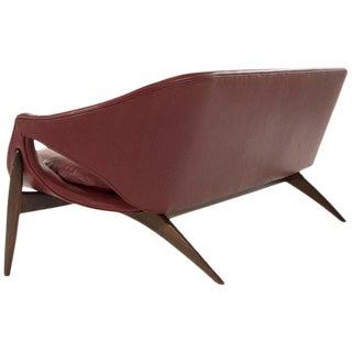 Chianti Leather Sofa by Luigi Tiengo for Cimon Montréal, 1963 Preview