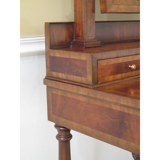 2000 - 2009 Maitland Smith Figural Mahogany Empire Dressing Vanity For Sale - Image 5 of 13