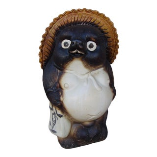 "1970s Ceramic ""Tanuki"" Statue For Sale"
