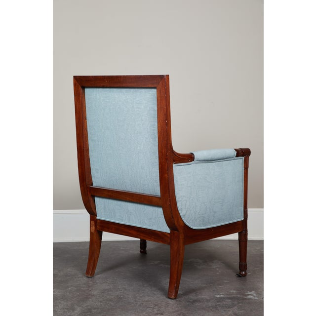 Pair of Empire Mahogany Bergeres Chairs For Sale - Image 4 of 8
