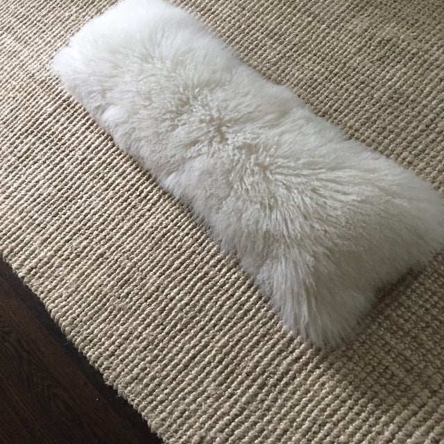 Mongolian Fur Lumbar Pillow - Image 6 of 7