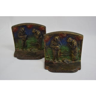 1920's Cast Iron Angelus Bookends - a Pair Preview