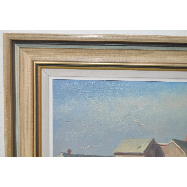 Rockport Massachusetts Oil Painting by Michael Stoffa For Sale In San Francisco - Image 6 of 9