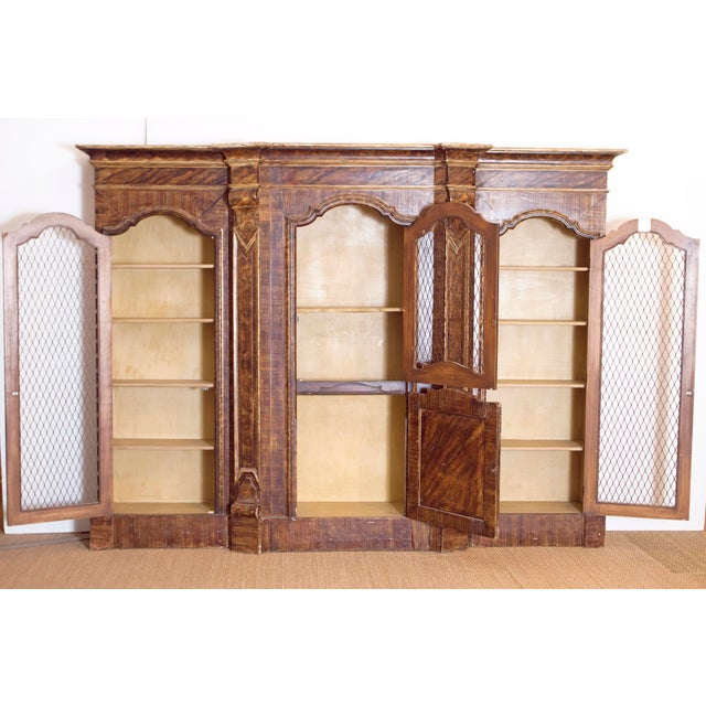Mid 19th Century Mid-19th Century Italian Rococo Style Bookcase For Sale - Image 5 of 13