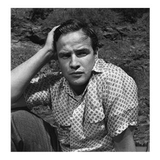 Marlon Brando at his Beverly Glen home in Los Angeles 1953