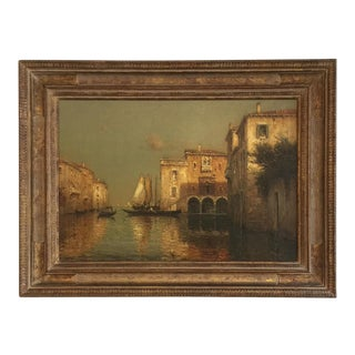 Painting of Venice by Antoine Bouvard , Circa 1930's