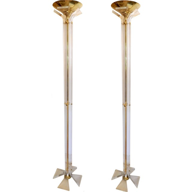 Italian Floor Lamps - A Pair - Image 1 of 9