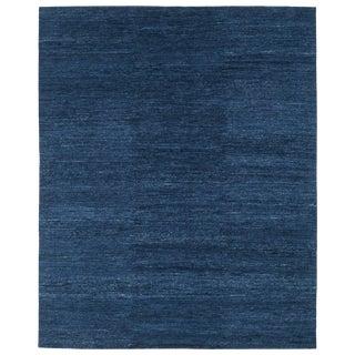 Carini Indigo Tibetan Wool Area Rug - 8′ × 10′ For Sale