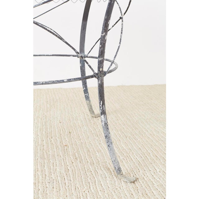 French Wrought Iron and Wire Garden Dining Table For Sale - Image 11 of 13