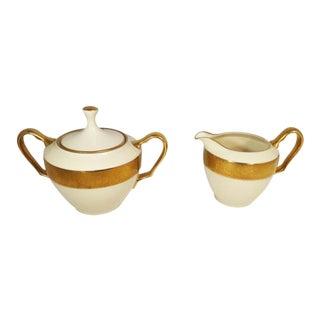 Art Deco Lenox Westchester China Cream and Sugar Set - 2 Pieces