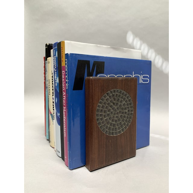 Mid-Century Modern Mid-Century Modern Walnut and Tile Bookends - a Pair For Sale - Image 3 of 10