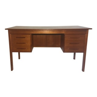 Danish Mid-Century Teak Desk For Sale