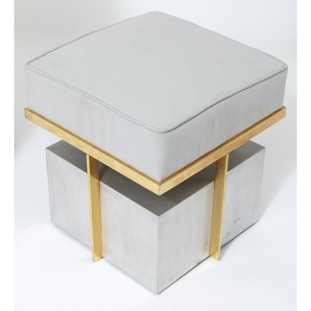 Modern Steel Vanity Table and Stool In Style Of Maison Jansen - a Pair For Sale - Image 12 of 13