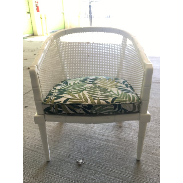 Vintage Faux Bamboo Cane Barrel Back Chair For Sale In Richmond - Image 6 of 9