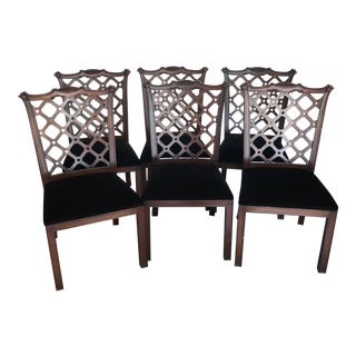 Hickory Chair Company Mahogany Manor House Dining Chairs - Set of 6 For Sale