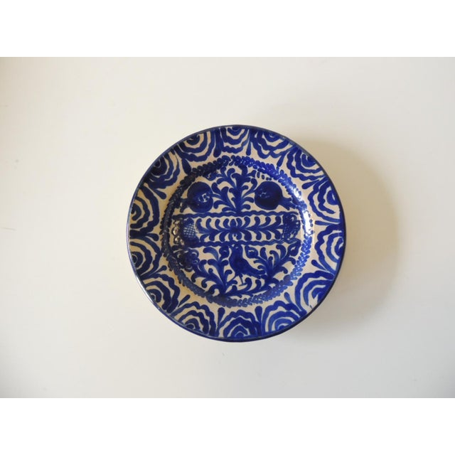 Vintage Hand Painted Spanish Decorative Dish Stamped: Ceramica Arabe y Jaidro Size: 8.5 x 8.5 x 1.5 In shades of antique...