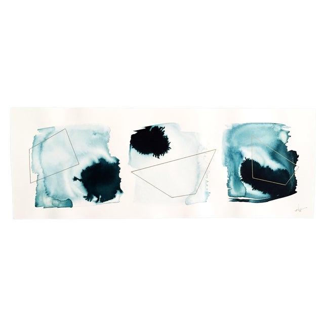 "Beth Winterburn Original Abstract, ""Ink Palette"" - Image 1 of 4"