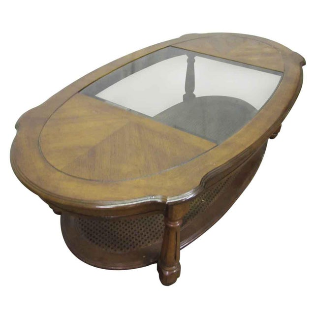 Glass Glass Top Insert Coffee Table For Sale - Image 7 of 8
