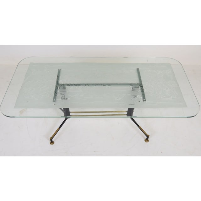 Italian Modern Ireon Glasstop Coffee Table - Image 5 of 7