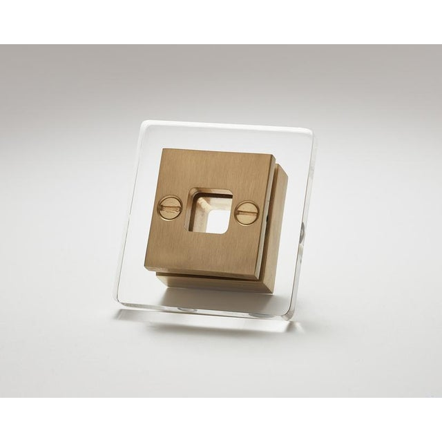 Industrial Nest Studio Collection Transparency-13 Satin Brass Handle For Sale - Image 3 of 3