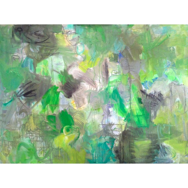 """Trixie Pitts Abstract Painting """"Nashville Rain"""" - Image 1 of 4"""